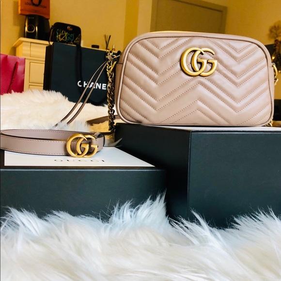 5adb48a73ce644 Gucci Handbags - Gucci Marmont Matelassé Crossbody